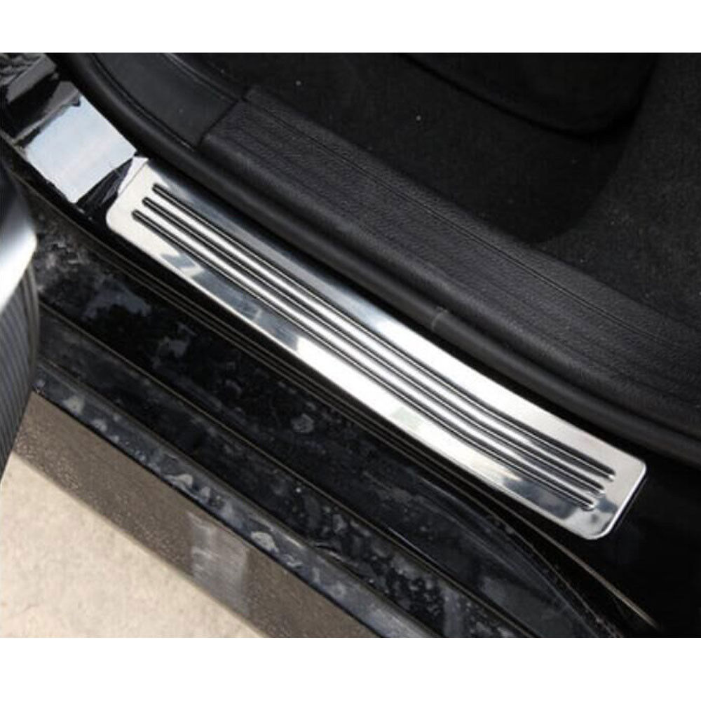 car rear door sill scuff plate cover protector guards step styling sticker fit for benz glk200. Black Bedroom Furniture Sets. Home Design Ideas
