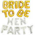 9pcs/lot BRIDE TO BE Gold silver foil balloon bachelorette  hen party wedding decoration wedding event party supplies