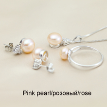Freswater Pearl 925 Silver Jewelry Set