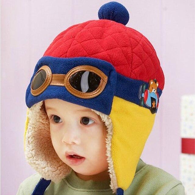 Winter Baby Earflap Toddler Girl Boy Kids Pilot Aviator Cap Warm Soft  Beanie Hat casquette gorros for kids df44aab306d4