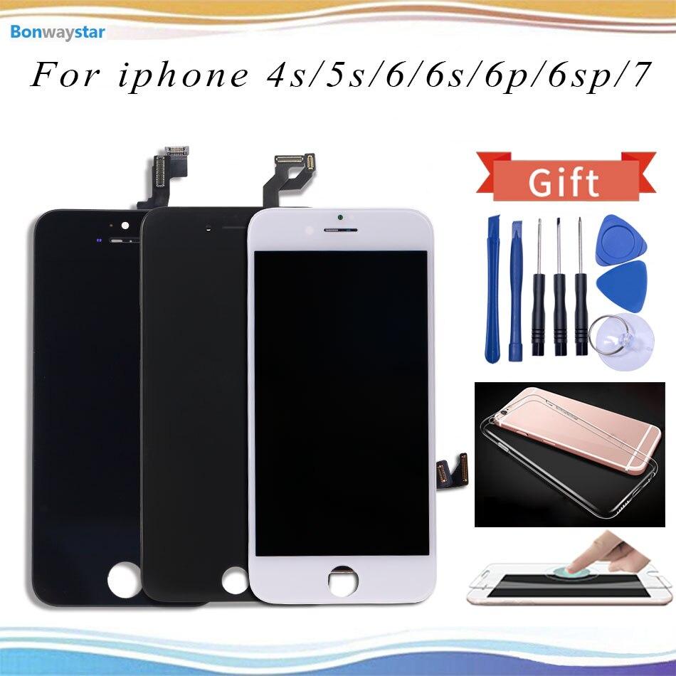 AAA LCD para el iPhone 6 5S pantalla táctil reemplazo de la Asamblea del digitizador para el iPhone 6 P 6 s más 7 lcd pantalla envío libre