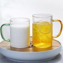 500 мл прозрачная стеклянная чашка японская кружка для молока на завтрак Бытовая чашка для сока простая кофейная кружка Ресторан Бар кружка