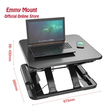 New Ultra thin EasyUp Height Adjustable Sit Stand Desk Riser Foldable Laptop Notebook/Monitor Holder LD04