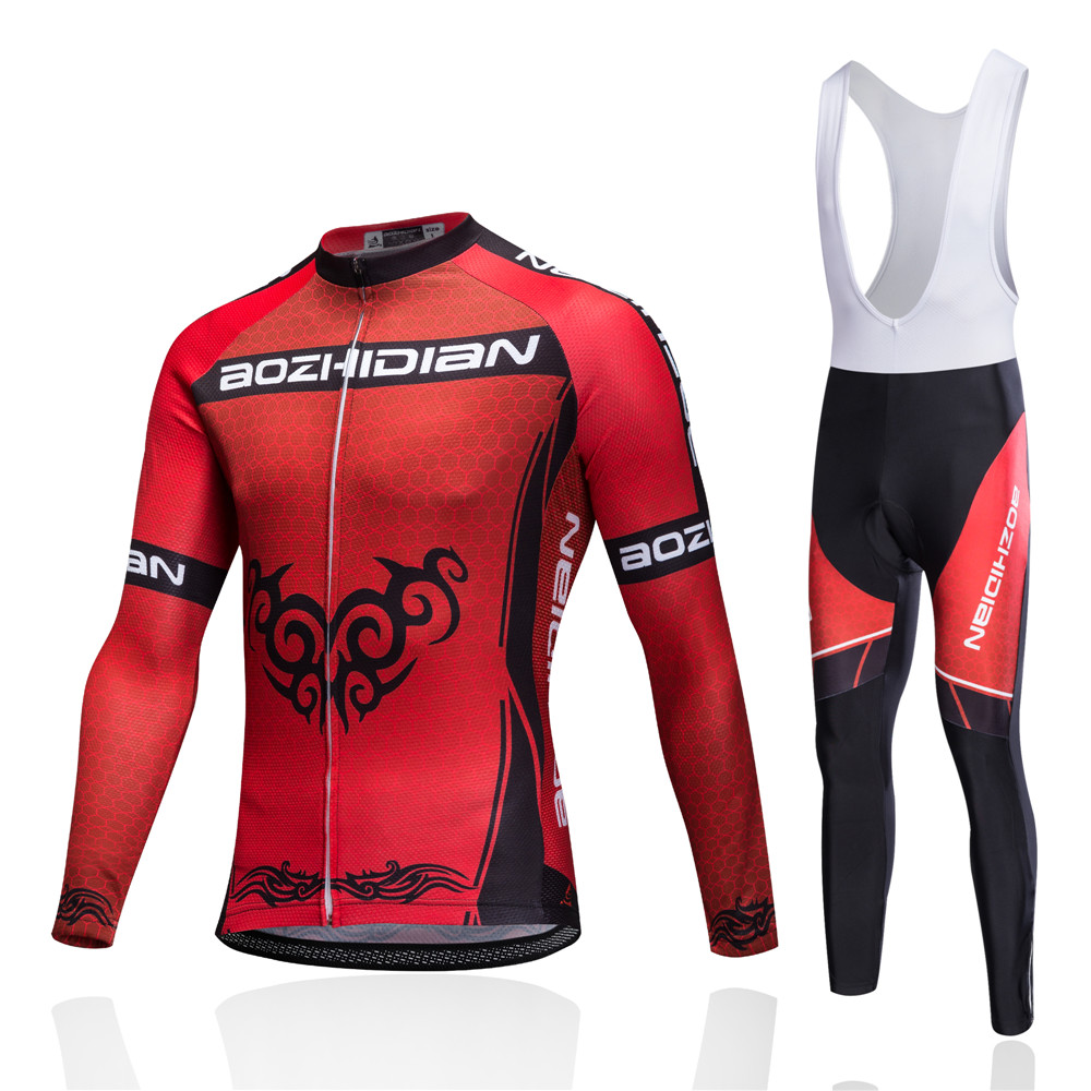 2017 Pro Red Men Women Maillot Cycling Clothing Set MTB Bicycle Wear Ropa Ciclismo Winter Thermal Fleece Cycling Jersey China