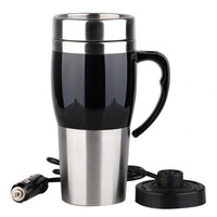 Auto electric bottle Portable car hot Water Heater cup Travel heating kettle teapot Stainless steel Coffee Tea Mug 12V