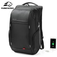 Kingsons 1517 Laptop Backpack External USB Charge Computer Backpacks Anti theft Waterproof Bags for Men Women