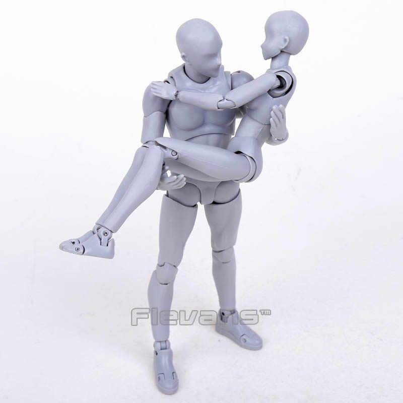 SHF BODY KUN/BODY CHAN สีเทา/สีส้ม Ver. PVC Action Figure ของเล่นสะสม