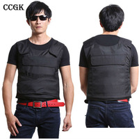 CCGK Bulletproof Vest NIJ IV Tactical Vest High Meng Steel Protect Life Safety Body Armor Real