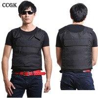 CCGK Bulletproof Vest NIJ IV Tactical Vest High Meng Steel Protect Life Safety Body Armor Real