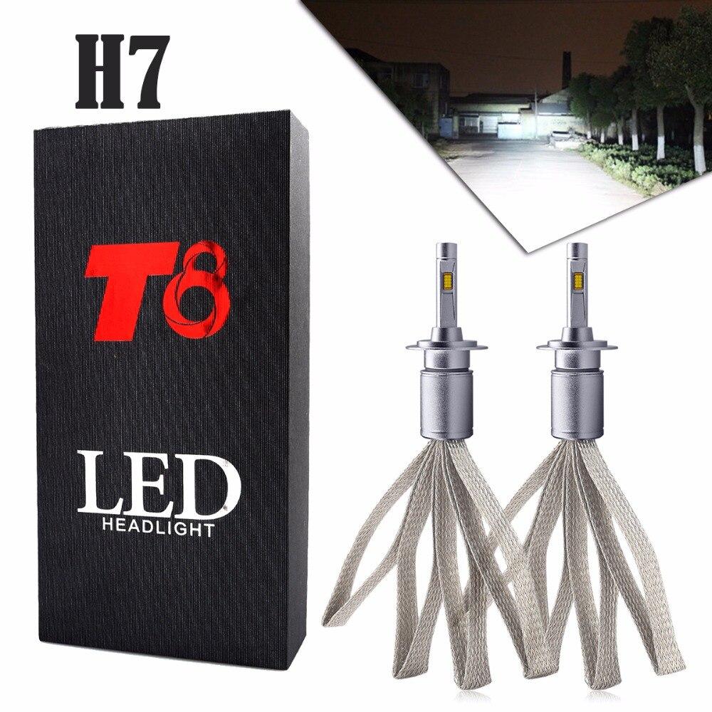 US $34 99 30% OFF 2PCS H7 16LED Car LED Headlights Bulb High Low Beam  8000LM T8 72W For Mercedes Benz W211 W210 W124 W212 W204 W203 W205 W220  W221-in