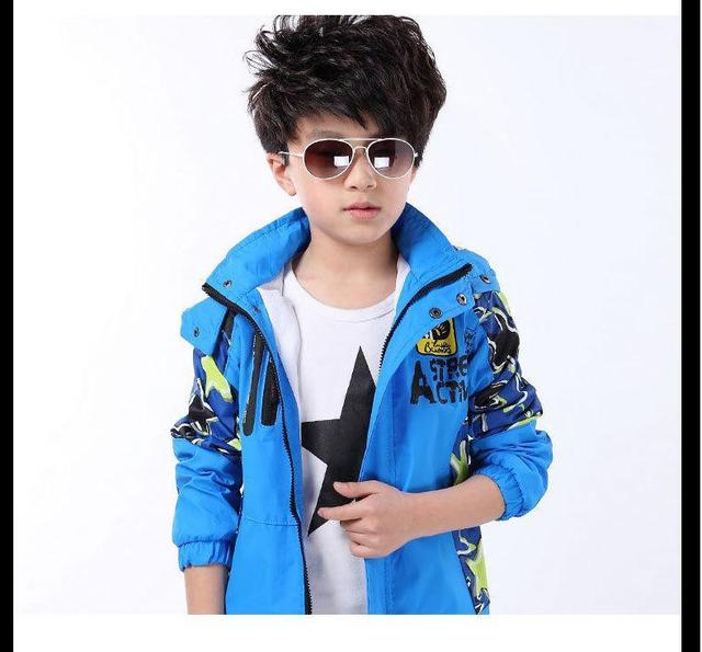 New Arrival Childrens Spring& Autumn Camouflage Jacket High Quality Solid Hooded Coat Casual Sports Hoodies