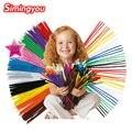 Simingyou 100 unids Chenille Materiales Montessori de Juguetes educativos para Niños Manualidades Para Niños Colorido Tubo Limpiador de Juguetes Artesanales