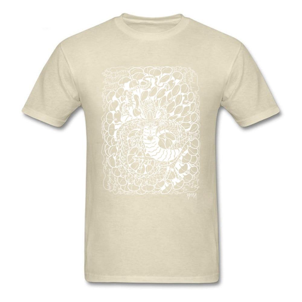 Chrysanthemum Dragon New Arrival Printing T Shirt O-Neck Autumn 100% Cotton Fabric Short Sleeve Tshirts for Men cosie Tee-Shirt Chrysanthemum Dragon beige