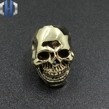 Paracord Brass Smile Skull Knife Beads Pure Copper EDC Pendant DIY Flashlight Falls Rope Keychain
