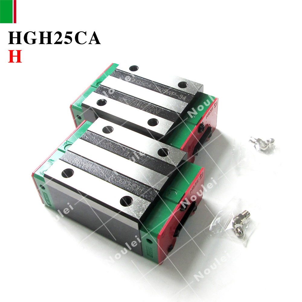 2pcs HIWIN HGH25CA H class linear guide block of HGR25 rail for CNC router High efficiency HGH25 2pcs taiwan hiwin rail hgr25 400mm linear guide 4pcs hgh25ca