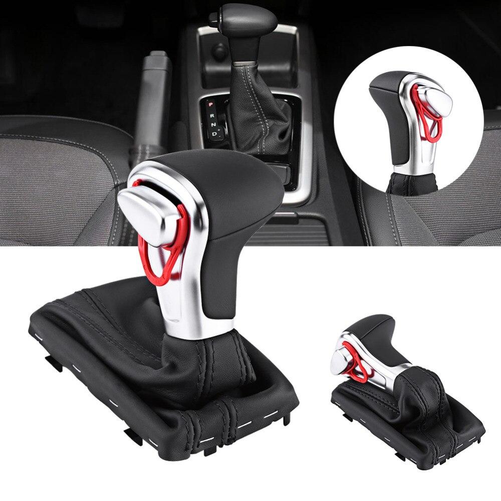 Pommeau Gaitor Boot Couverture En Cuir Noir Pour Audi A4 A5 Q5 Voiture Accessoires