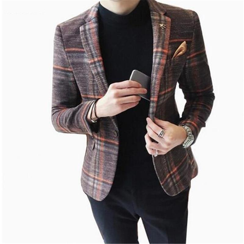 Detalle Comentarios Preguntas sobre Hombres Otoño Invierno terciopelo vino  tinto moda ocio traje chaqueta novio boda cantante Slim Fit Blazer Hombre  en ... a8bb44b2ba8