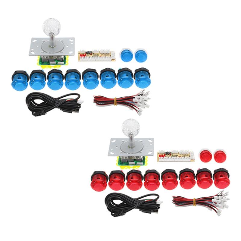 цена на Arcade Joystick DIY Kit for Arcade Game PC USB Joystick Controller With 10 Push Buttons+Encoder Board+Joystick Zero Delay