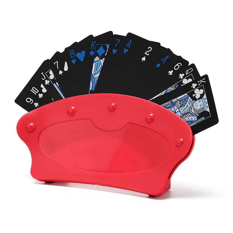 Gmarty 1Pc porte-cartes à jouer support paresseux Poker jeu de Base organise les mains pour facile jouer noël anniversaire fête Poker siège