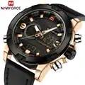 Reloj deportivo de marca de lujo NAVIFORCE para hombre reloj militar Digital de cuero para hombre reloj impermeable de cuarzo para hombre reloj Masculino