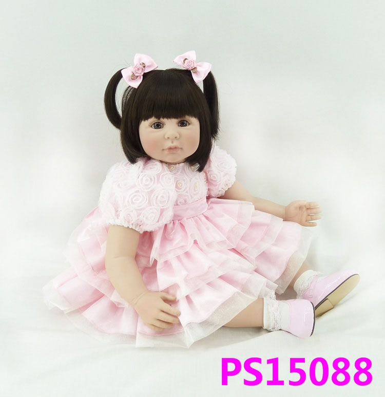 60cm Silicone Reborn Baby Like Real Doll Toy