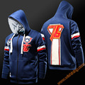 2017 New OW Game Solider 76 Hoodies Watch Over Game Blizzard Cosplay Hoodie Mens Boy Zip Up Cool Blue Reaper Sweatshirt Coats