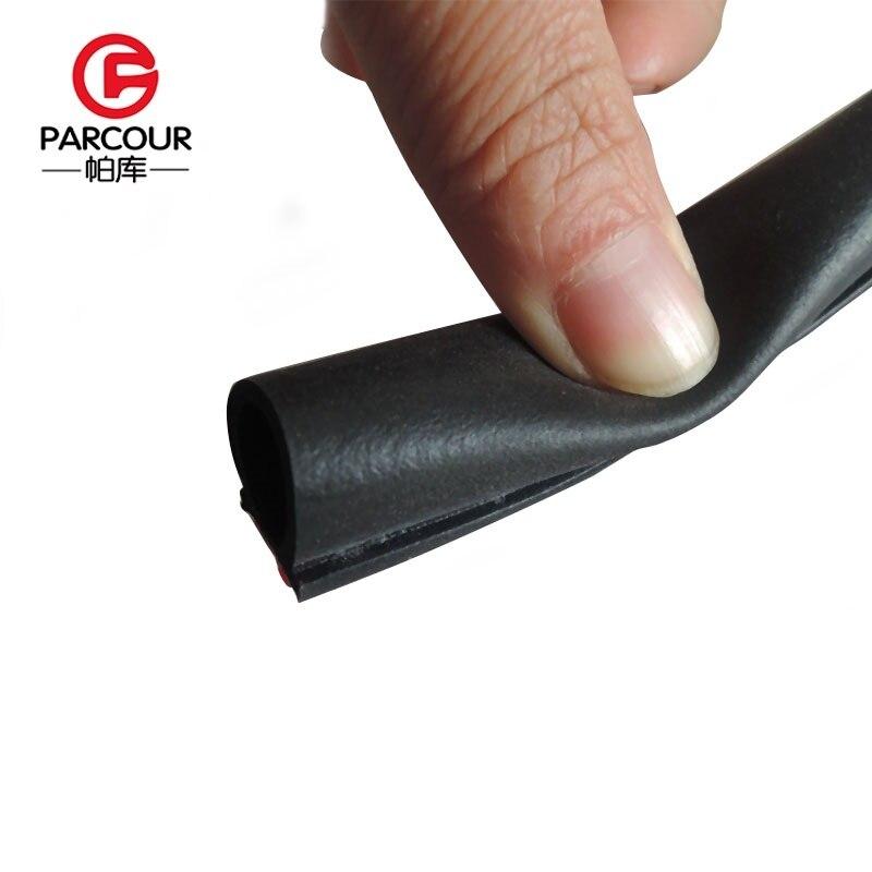6 Meters Big D Rubber Seals Car Door Seal Noise Sound Insulation Dustproof Waterproof  Car Door Sealing Strip Rubber With 3M Gum