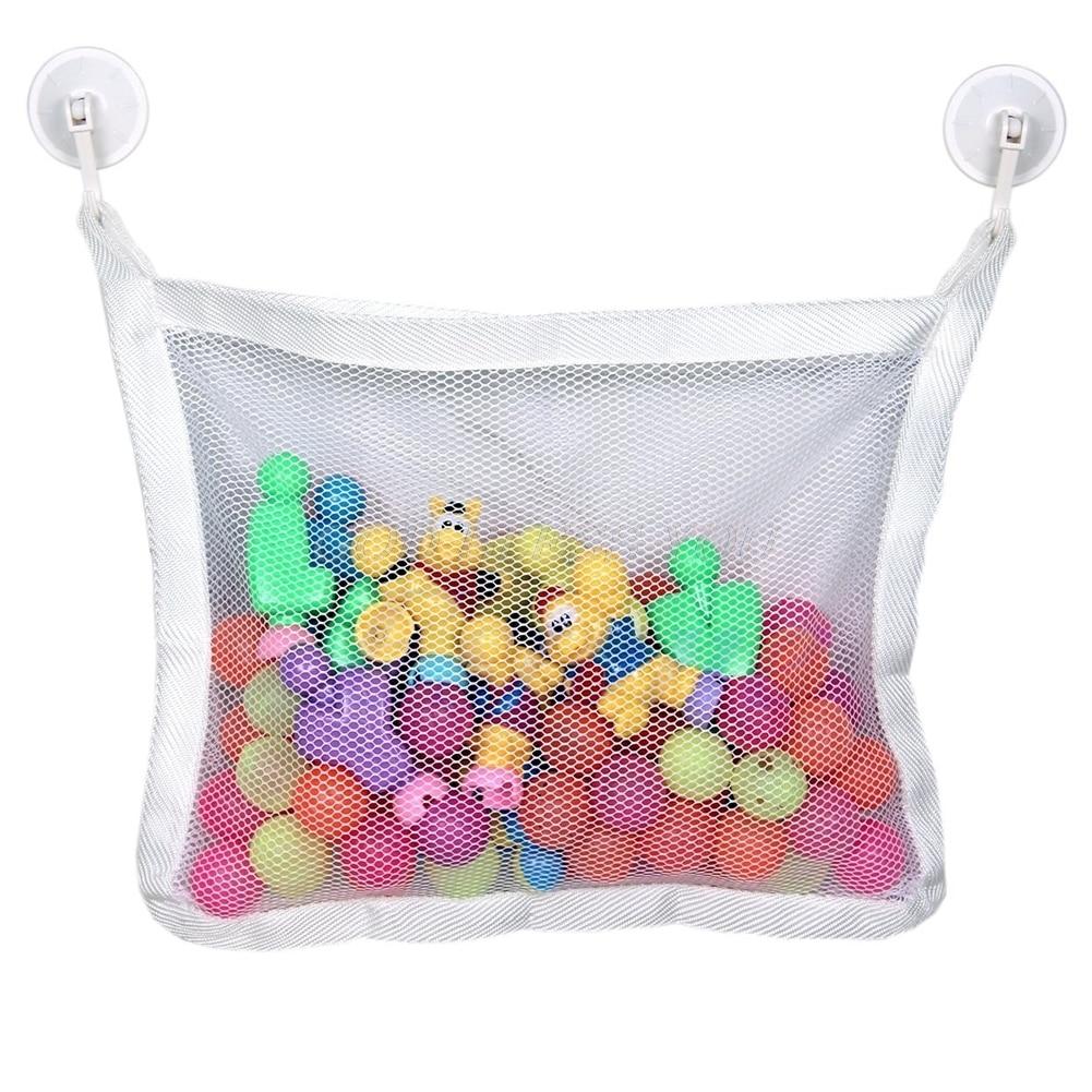 AnpassungsfäHig Bad Zeit Spielzeug Hängematte Baby Kleinkind Kind Spielzeug Sachen Ordentlich Lagerung Net Veranstalter Jade Weiß