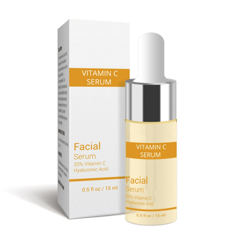Vitamin C Serum+Six Peptides 24K Gold+Hyaluronic Acid Anti-Aging Whitening Moisturizing Brighten Serum