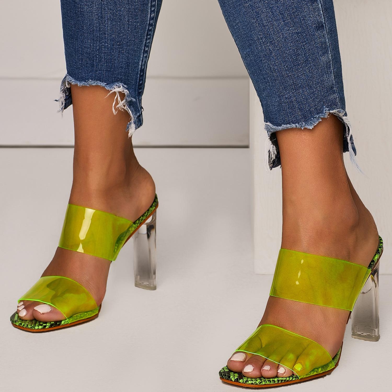 HTB1DvOyU4TpK1RjSZR0q6zEwXXaZ 2019 Snakelike Sandals Crystal Open Toed High Heels Women Transparent Heel Sandals Slippers Pumps 11CM Big Size 41 42