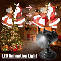 Mini LED Animation Light Projector Adjustable Speed Christmas Decor Lamp Bright LED Light For Stage Wedding Party Bedroom