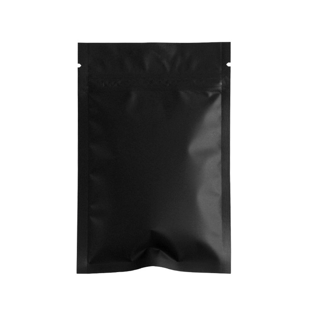 f85322c3a6d3 US $12.13 |Heat Seal Matte Black Aluminum Foil Reclosable Food Storage Bag  100Pcs Mylar Ziplock Package Bags Self Seal Zip Lock Flat Pouch-in Storage  ...