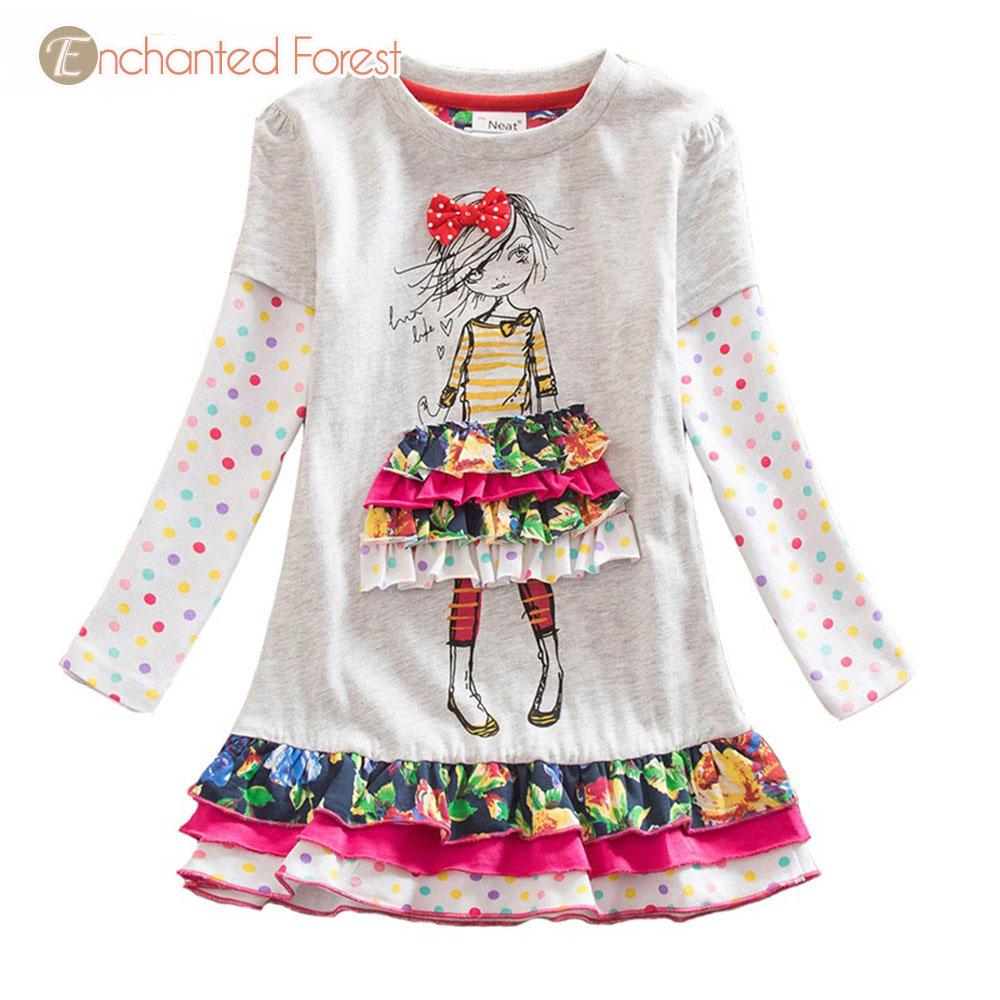 Girl Unicorn Dress 2019 Spring Children 39 s Clothes kid Long Sleeve Print Butterfly girls Princess Dress kids dresses for girls in Dresses from Mother amp Kids