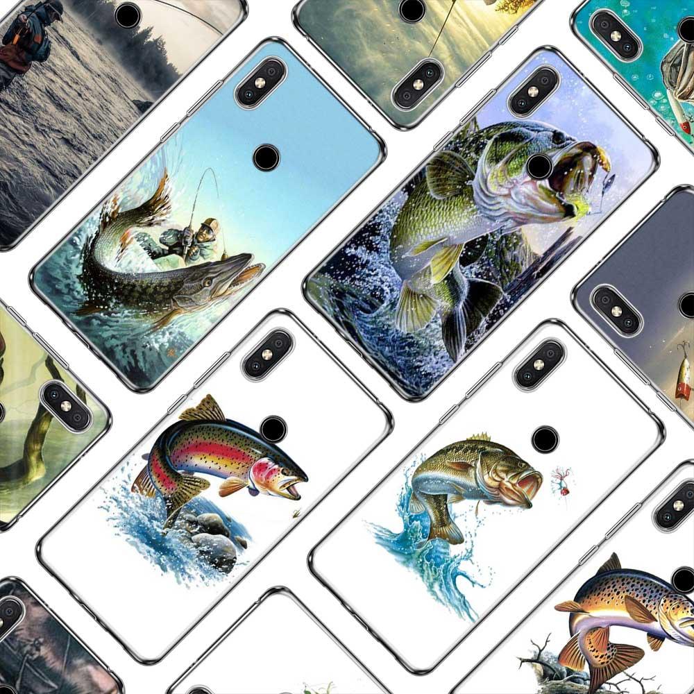Juntsai Koi Carp Fish Case For Xiaomi Mi F1 8 9 6 6x A2 Max 2 3 Redmi 4x S2 5 Plus 6 6a Note 5a 5 Pro 4 7 Shell Cellphones & Telecommunications Phone Bags & Cases