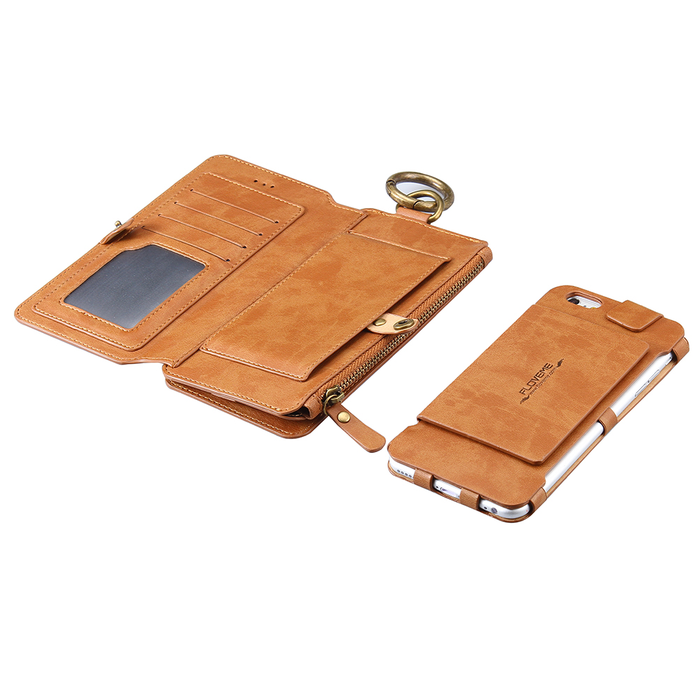 leather iphone case retro business leather wallet phone for iphone 6s 6 2594