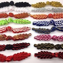 Китайские лягушки пуговицы застежка узел кнопка ручной работы лист пуговицы для платья Чонсам шитье DIY ремесла длиной около 10 см 1 пара