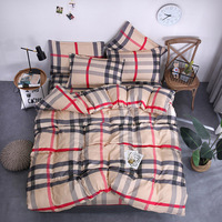 2019 Red stripe Bedding set Duvet Cover set twin full Queen King size Bed sheet new Bed cover set Pillowcase fashion bedclothes