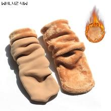 WHLYZ YW Women Socks Winter warm Socks hosiery Thicken sock Wool Home Calcetines Snow boots Cotton socks Female Velvet Half-hos