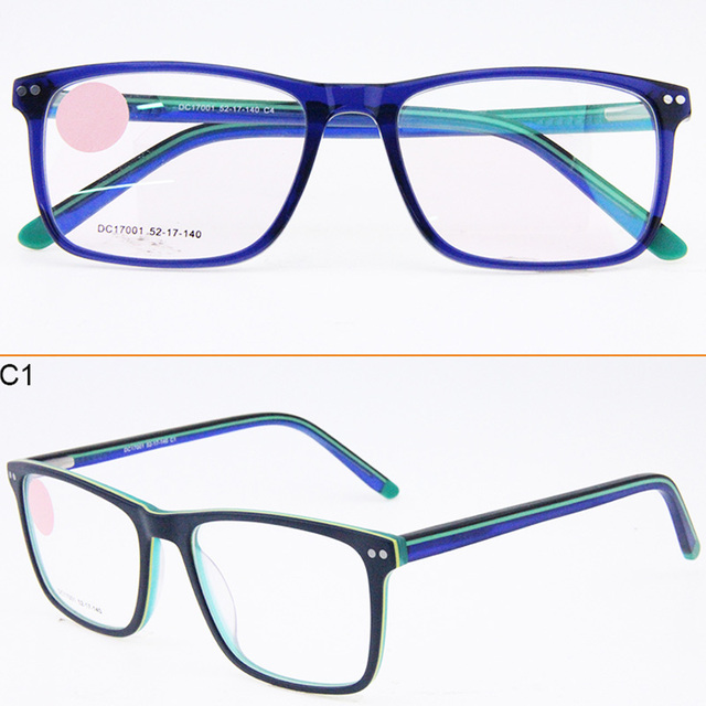 790c1062e5 Latest Stylish Elegant Optical Frame Acetate Ultralight Clear Eyeglasses  For Men and Women Square Frame Spectacle Frames DC17001