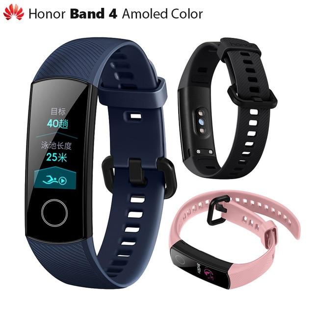 """Orijinal Huawei Onur Band 4 Akıllı Bileklik Amoled Renk 0.95 """"Dokunmatik Yüzmek Duruş Tespit Kalp Hızı Uyku Yapış"""