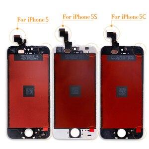 Image 4 - AAA جودة LCD آيفون 4 عرض بانتيلا آيفون 5 شاشة تعمل باللمس مجموعة قطع غيار لا الميت بكسل الزجاج المقسى وأدوات