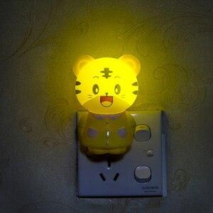 Image 5 - Cartoon LED Nacht Licht AC220V 110V Kinder Nacht Lampe In Tiger/Bear Kinder Geschenke Nachtlicht Für Schlafzimmer Nacht lampe