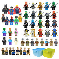 2019 Kids Juguetes Boy Birthday Gifts Storage Box Avengersed Ninjago Army Legoingly 50 Blocks Minifigures Toys for Boys Children