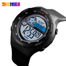 SKMEI Sport Watch Men Digital Watch Fashion Outdoor Sport Waterproof Wristwatches Alarm Clock Digital Watches relogio masculino cheap Plastic 25cm 5Bar Buckle ROUND 22mm 16mm Resin Stop Watch Back Light Shock Resistant Chronograph Multiple Time Zone Water Resistant