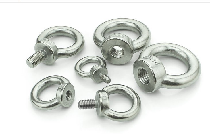 10-Pack The Hillman Group Hillman 4283 10-24 x 2 Inch Stainless Steel Eye Bolts with Nut