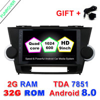 2 Din Car Dvd Radio Player 9 Inch 2G 32G For Toyota Highlander 2009 2013 Android