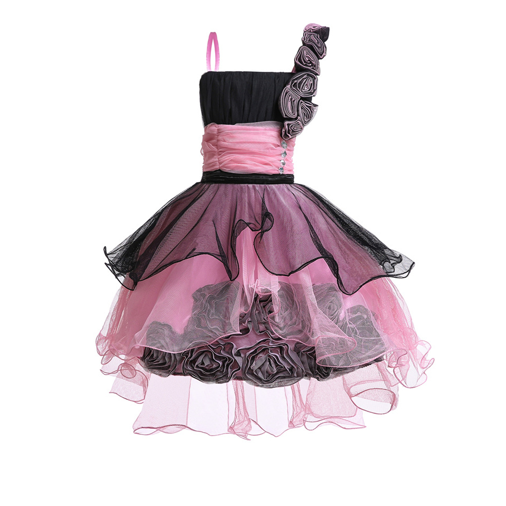 Free Shipping 2019 New Arrival Kids Dress For Girls 4 12 Year Children Pageant Gown Patchwork Novelty Girl Party Dresses Factory in Dresses from Mother Kids