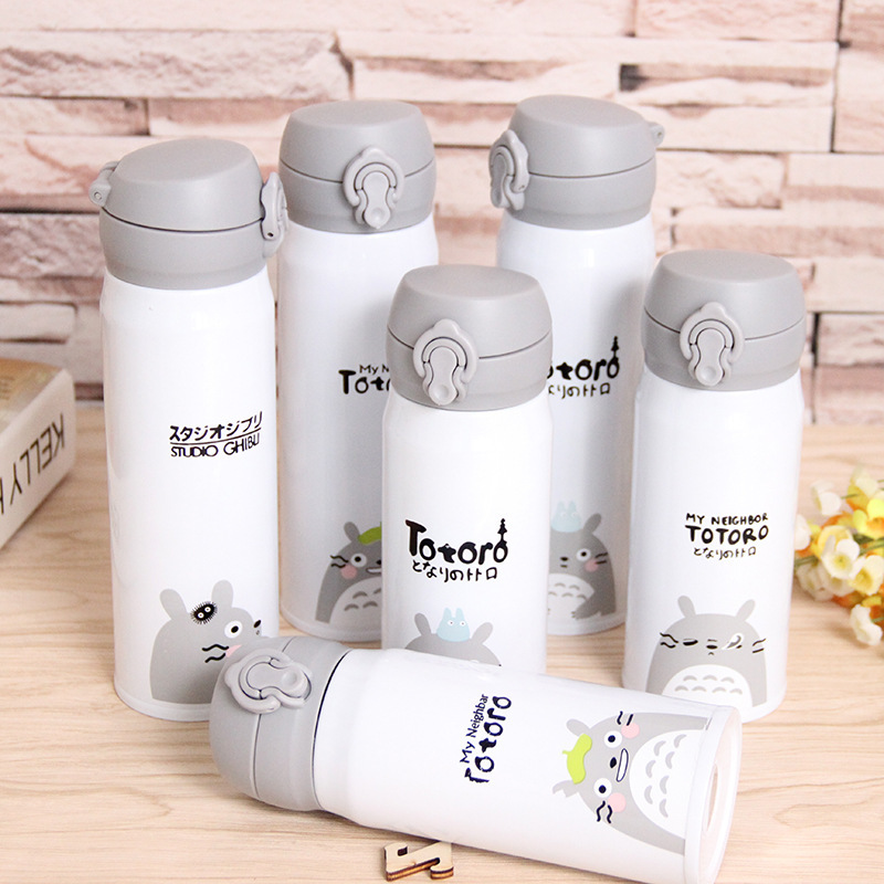 New Cartoon Totoro Stainless Steel Vacuum Flasks Thermoses Insulated Water Bottle Keep Liquids Hot Or Cold