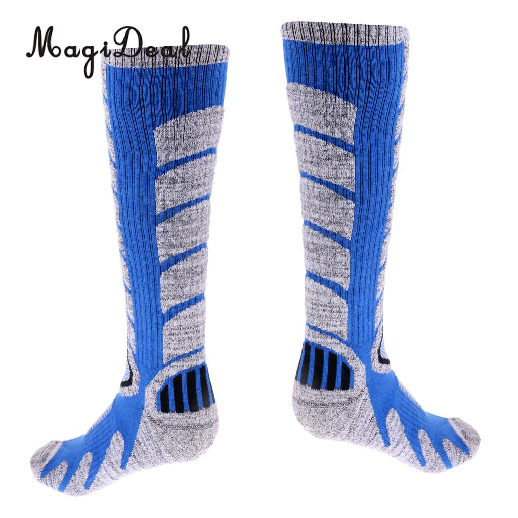 MagiDeal Men Sweat Absorbing Breathable Thermal Sport Long Socks for Snowboarding Skiing Climbing Hiking