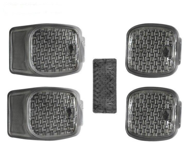 Tapis de sol intérieur pour voiture tout temps en caoutchouc transparent 5 pièces Set tapis de sol intérieur pour voiture robuste